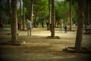 Parken utanför Matissemuseet.